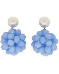 Marc Jacobs - Blue Pearl Crystal Ball Drop Earrings - Lyst