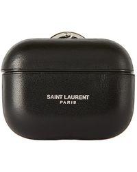 Saint Laurent Etui pour Airpods Pro a logo noir