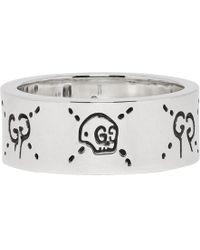 Gucci Silver Ghost Ring - Metallic