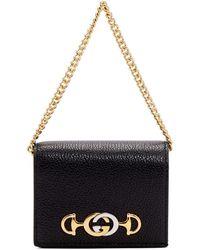 Gucci - ブラック ズゥミ カード ケース バッグ - Lyst