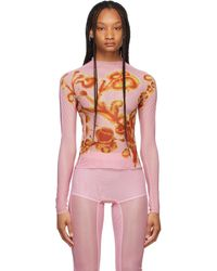 CHARLOTTE KNOWLES Pink Halcyon Turtleneck