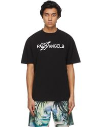 Palm Angels ブラック Pierced Heart T シャツ