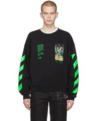 Off-White c/o Virgil Abloh - Black Pascal Painting Sweatshirt - Lyst