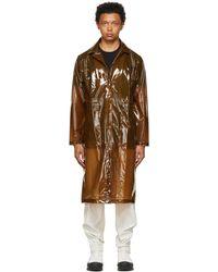 Rains ブラウン トランスペアレント オーバーコート