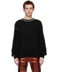 Y. Project ブラック Braid Overlock セーター
