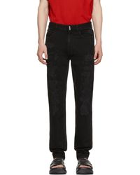 Givenchy ブラック ディストレス スリムフィット ジーンズ