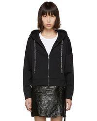 Moncler ブラック ジップアップ セーター