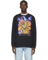 Acne Studios T-shirt a manches longues noir Great Beast edition Monster in My Pocket