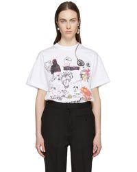 Ambush - Ssense Exclusive White Graphic T-shirt - Lyst