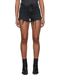 Alexander Wang Short en denim noir Bite - Gris
