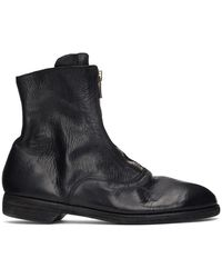 Guidi ブラック 210 ブーツ