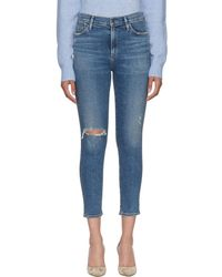 Citizens of Humanity - Blue Rocket Crop Skinny Jeans - Lyst