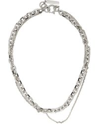 Justine Clenquet Silver And Gold Dana Necklace - Metallic
