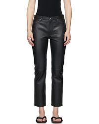 Won Hundred Black Sally Leather Pants