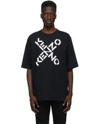 KENZO - ブラック Sport ロゴ T シャツ - Lyst