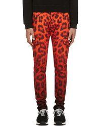 Katie Eary - Vermilion Leopard Twill Cargo Trousers - Lyst
