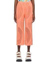 Pleats Please Issey Miyake Pink Swim Ring Pants - Orange