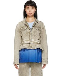 Proenza Schouler White Label Rigid Belted Jacket - Multicolour