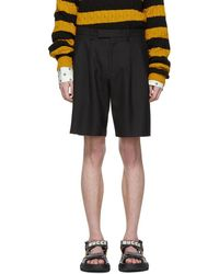 Gucci Black Herringbone Shorts