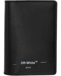 Off-White c/o Virgil Abloh Black Logo Passport Holder