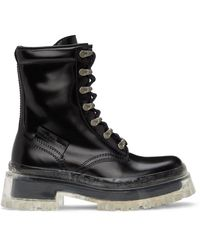Marc Jacobs - ブラック The Lace Up ブーツ - Lyst