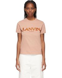 Lanvin ピンク ロゴ T シャツ