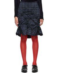 Kiko Kostadinov Blue Apex Skirt