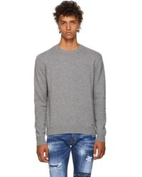 DSquared² - Grey Fin.7 Sweater - Lyst