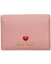 Miu Miu Pink Card Holder With Heart
