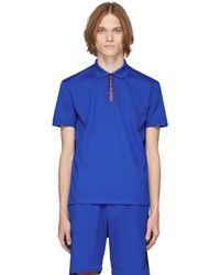 Alexander McQueen - ブルー ロゴ ポロシャツ - Lyst