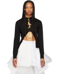 Loewe Paula's Ibiza コレクション ブラック シルク Moon セーター