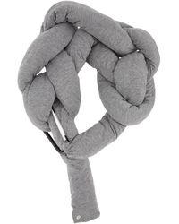 Bless グレー & ベージュ Bolster スカーフ
