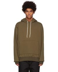 Naked & Famous French Terry Pullover Hoodie - Green