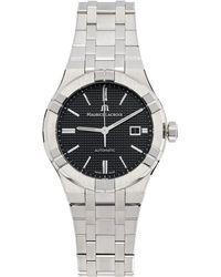 Maurice Lacroix シルバー & ブルー Aikon Automatic 腕時計 - メタリック