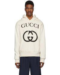 Gucci オフホワイト インターロッキング G フーディ