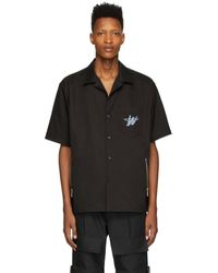 we11done Black Wd Logo Short Sleeve Shirt
