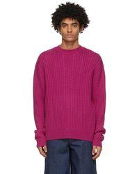 King & Tuckfield ピンク Chunky セーター