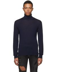 DSquared² - Navy Wool Turtleneck - Lyst