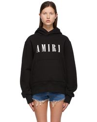 Amiri ブラック Core ロゴ フーディ