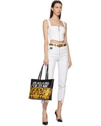 Versace Jeans Couture ブラック Baroque ベルト - マルチカラー