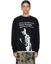 Stolen Girlfriends Club 'heavy Thoughts' Sweatshirt - Black