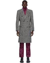 Tiger Of Sweden - Ssense Exclusive Grey Coltron Coat - Lyst