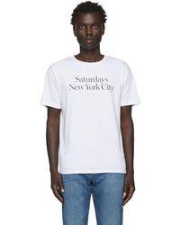 Saturdays NYC White Miller Standard T-shirt