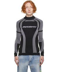 MISBHV ブラック & ホワイト Active Classic ロング スリーブ トップ