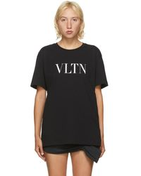 Valentino ブラック Vltn T シャツ