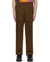 Valentino Brown Knit Seam Pants