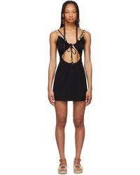 Loewe Paula's Ibiza コレクション ブラック Strappy ドレス
