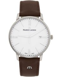 Maurice Lacroix シルバー & ブラウン Eliros Date 腕時計 - メタリック