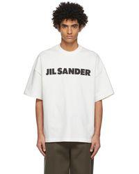 Jil Sander Off-white Logo T-shirt