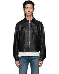 Enfants Riches Deprimes Leather Signature Western Jacket - Black